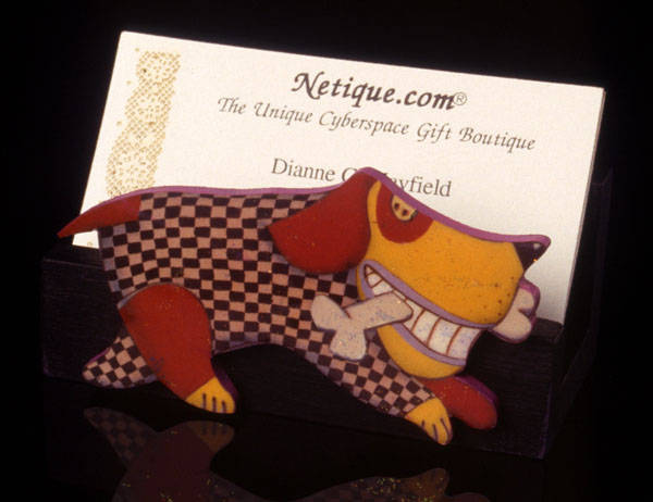 Top Dog Business Card Holder