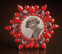 Red Starburst Frame