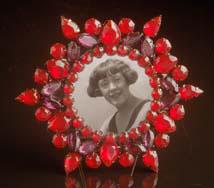 Red Starburst Jeweled Frame