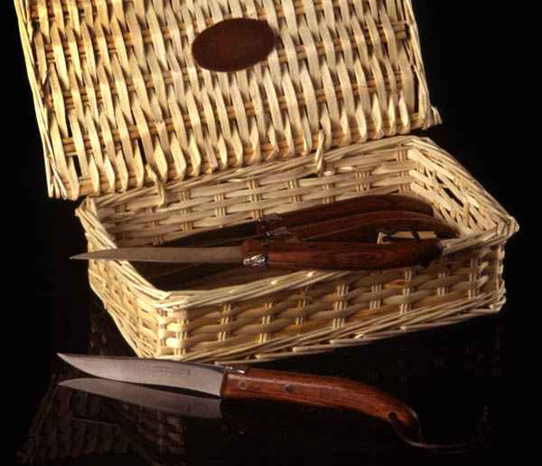 Steak Knives In Basket