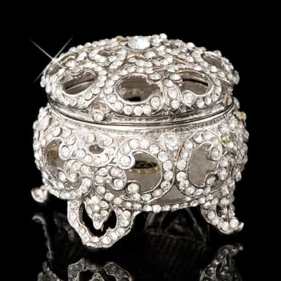 Silver Versailles Jeweled Box