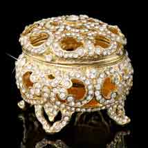 Gold Versailles Jeweled Box