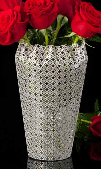 Geometric Metal Lace Vase