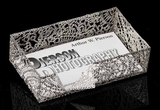 Metal Lace Business Card Holder