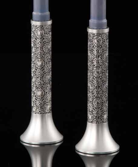 Metal Lace Candlesticks
