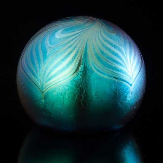 Iridescent Feather Paperweight