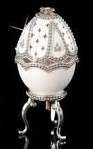 Silver Reflections Musical Egg