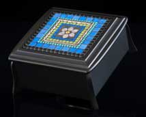 Azure Blue Mosaic Jewelry Box
