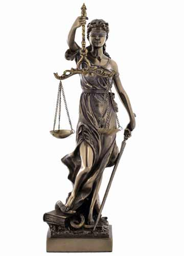 Lady Justice With Scales Statue