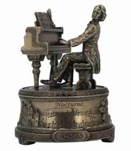 Frederic Chopin Playing the Piano Music Box