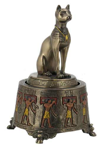Egyptian Bastet Music Box