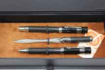 Tuscania Pens and Letter Opener in Vintage Globe Presentation Box