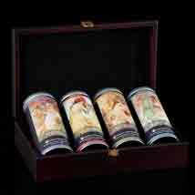 Mucha's Four Seasons Herbal Tea Set