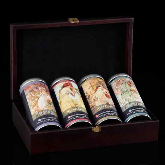 Mucha's Four Seasons Herbal Tea Chest