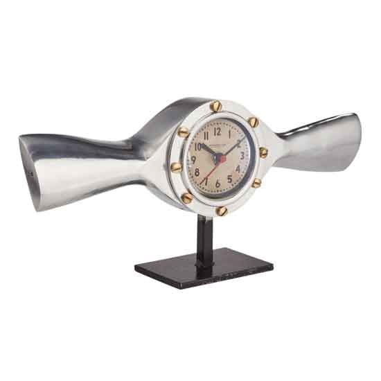 Airplane Spinner Desk Clock