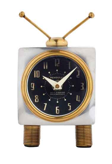 Retro TV Desk Clock