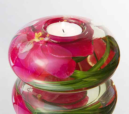 Fuchsia Orchid Tea Light Candle