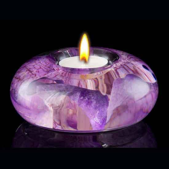 Purple Orchid Tea Light