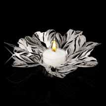 Metal Lace Floral Tea Light Holder