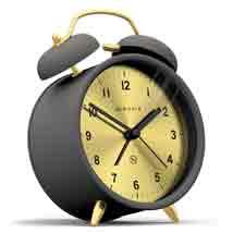 Golden Face Alarm Clock - Side View