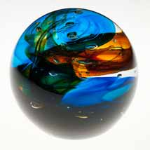 Swirling Colors Paperweight