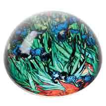 Van Gogh Irises Domed Paperweight