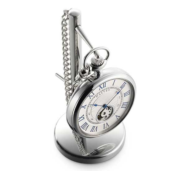 Dalvey Open Face Pocket Watch and Stand