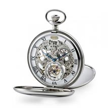 Dalvey Skeletal Pocket Watch - Open