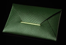 Green Lizard Business Card Case