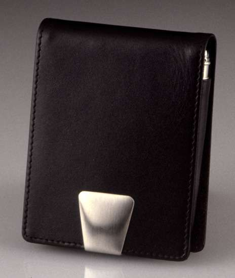 Leather Card Case with Pen