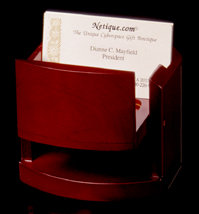 Rosewood Pop-Up Card Holder/Picture Frame - Open