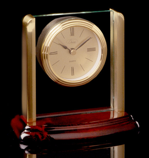 Mahogany Pillar Clock