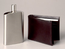 Flask and Credit Card Holder Set