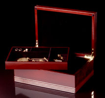 Rosewood Jewel Box - Open