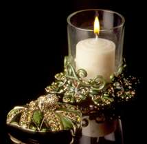 Jeweled Frog Votive Candle Holder - Open