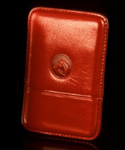 Barcelona Red Leather Card Case