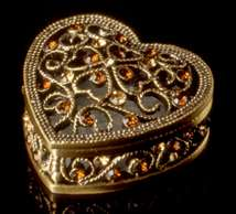 Jeweled Heart Box