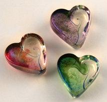 Robert Held Heart Nouveau Art Glass
