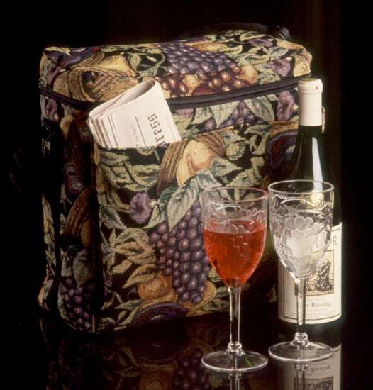 Grape Tapestry Gourmet Picnic Tote