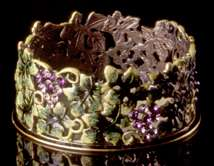Jeweled Grape Wine Coaster