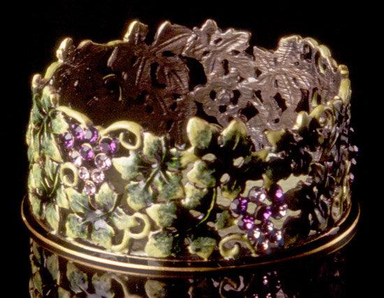 Jeweled Grape Wine Coaster