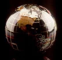 Black Opalite Globe Paperweight