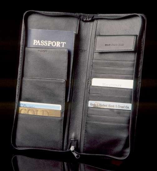 Faux Leather Passport/Document Case