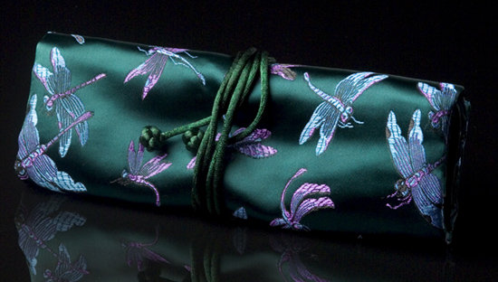 Emerald Green Chinoiserie Travel Case