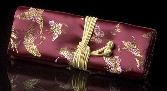 Burgundy Chinoiserie Travel Case