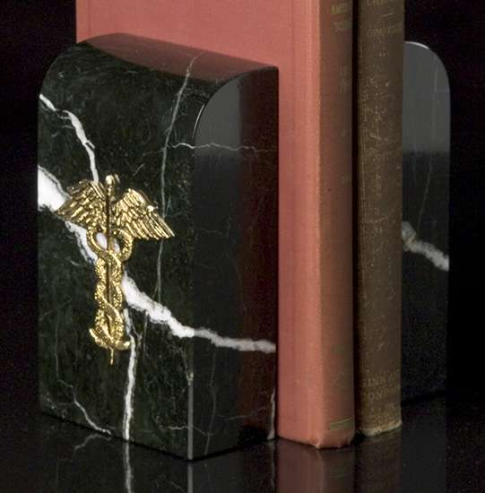 Medical Marble Bookends