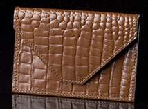 Ascot Brown Leather Card Envelope