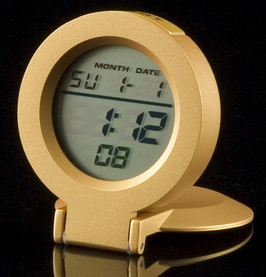 Rainbow Gold Travel Clock