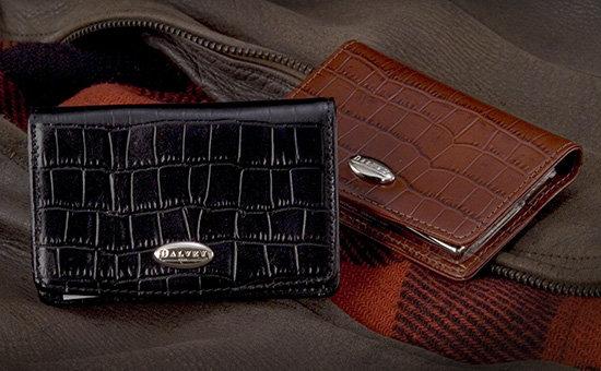 Dalvey Brown Crocodile Leather Card Case