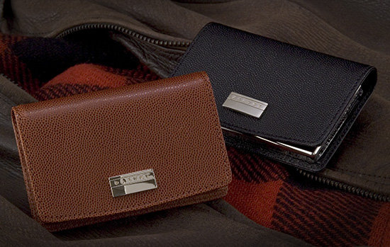 Dalvey Brown Caviar Leather Card Case